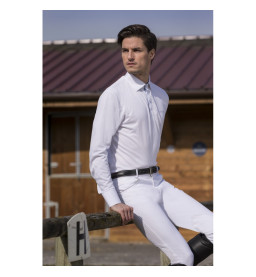 """POLO EQUITHEME """"MESH"""", MANCHES LONGUES - HOMMES"""